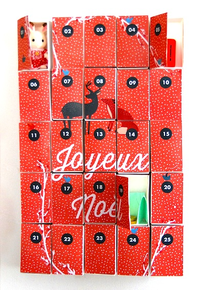 printable matchbox advent calendar
