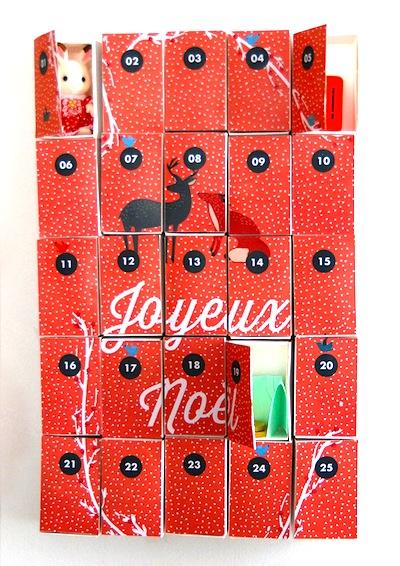 printable matchbox advent calendar