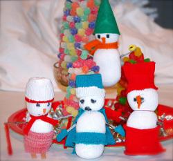 Как сделать новогодние игрушки своими руками.Делаем снеговиков
