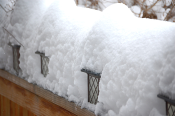 lanterns in the snow