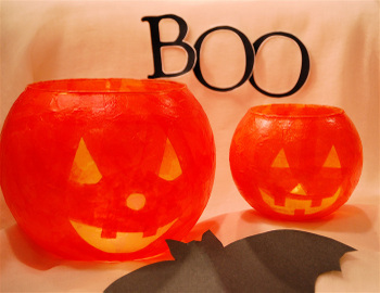 Bella Dia fishbowl pumpkin lantern tutorial