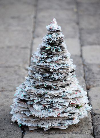 Glitterynewspapertree