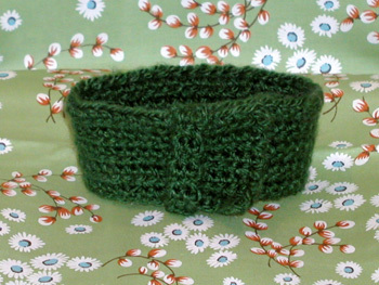 green neckwarmer