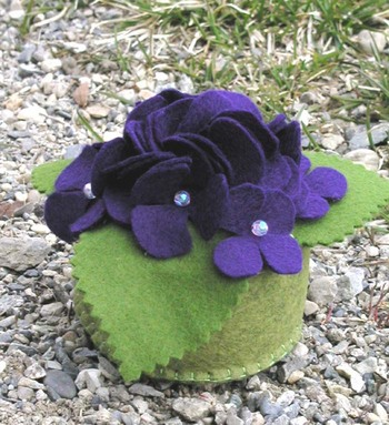 violets pincushion