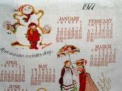 Holly Hobie calendar towel