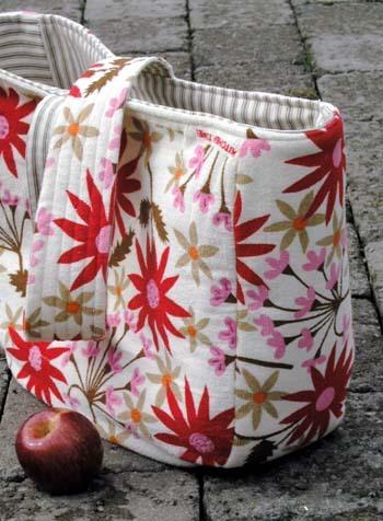 big bag with apple
