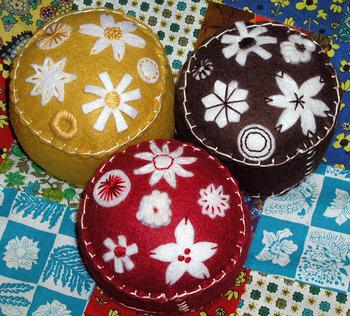 Folkloric pincushions