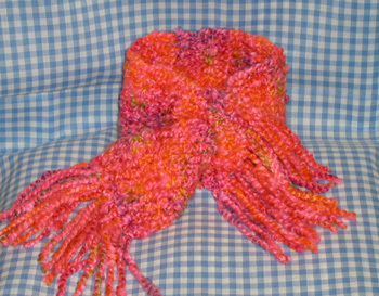 pinky orange neckwarmer