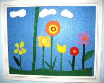 Threesneakybugsflowerfeltboard