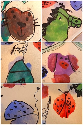 Mollycoddlewatercolorblobs