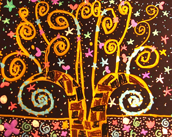 Klimt Tree Of Life Art Lesson Klimt's &qu...