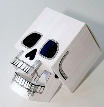 3 D Paper Skull Printable Skulladayskull72