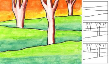 Artprojectsforkidstreelandscape