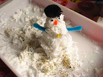 scrumdilly-do faux snow craft
