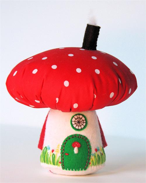 Mushroom House:  Red/White