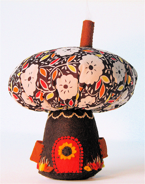 Mushroom House:  Fall (Brown/Orange)
