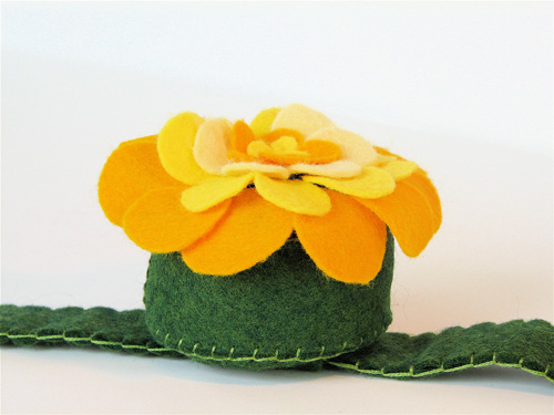 Wrist Corsage Pincushion:  Yellow