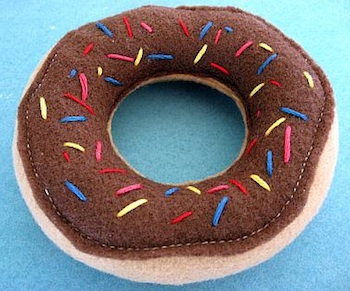chocolate sprinkle doughnut
