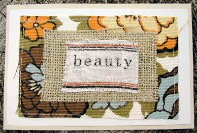 Textile Card: Beauty