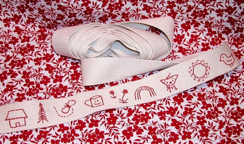Hand Embroidered Twill Tape