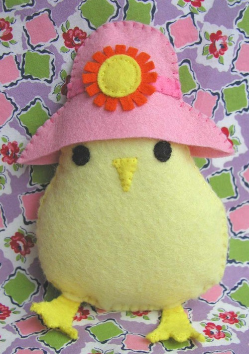 Spring Chick:  Pink Sun Hat