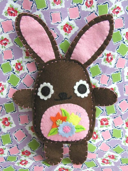Blossom Bunny: chocolate with pink belly
