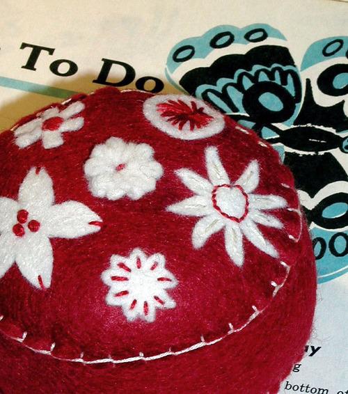 Pincushion: Folkloric (red)