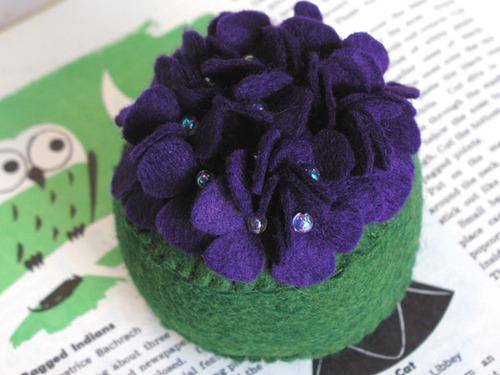 Pincushion: Violets