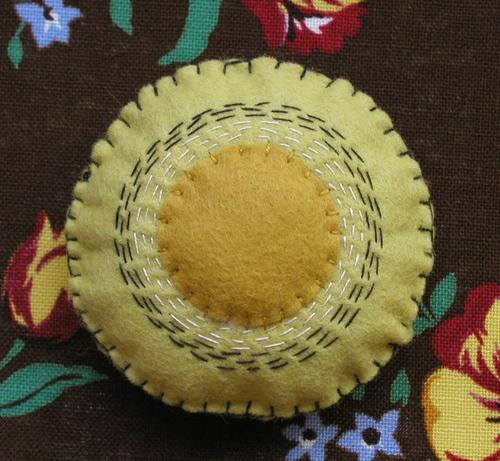 Pin Tuffet: Mustard Sun