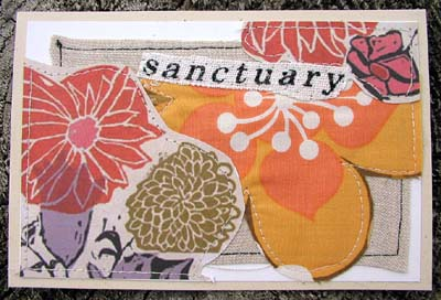 Textile Card: Sanctuary