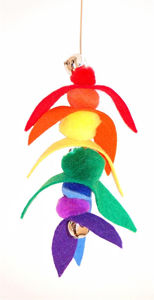 Rainbow kitty toy