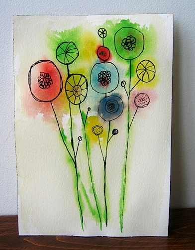 Easy watercolor flowers for Easy watercolour projects
