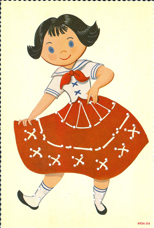 I Had Good Luck Thrifting The Other Day And Found Some Wonderful Old Sewing Cards Paper Dolls Ive Scanned Uploaded Them To Lulu So They Are