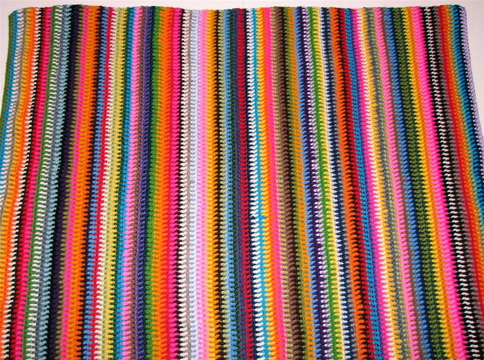 Bella Dia Vintage Vertical Stripe Crocheted Blanket Pattern