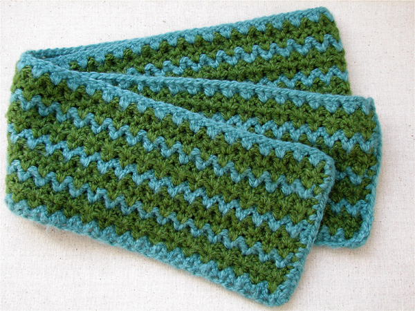 Crochet Stitches For Scarf : The first one worked up so fast that I decided to make another one. I ...