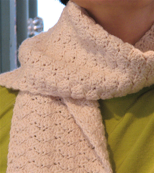 Shell Stitch Crochet Scarf Free Patterns Crocheted Scarves Children Free Patterns Crocheted Scarves Children