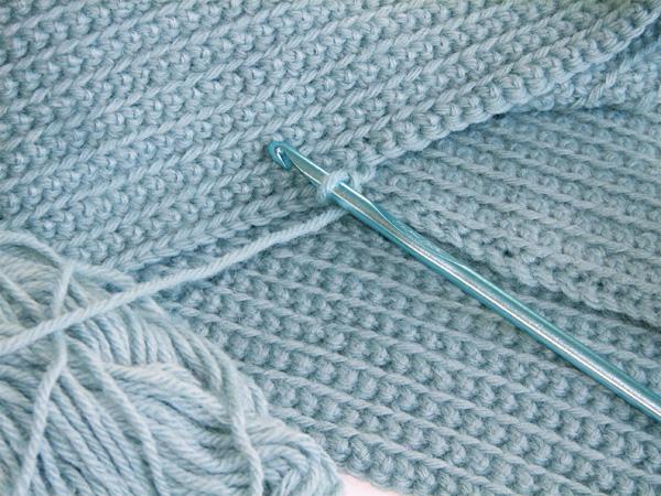 Bella Dia Wip Pale Blue Crocheted Scarf