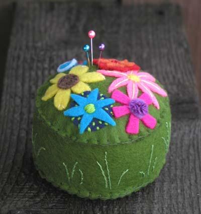 Felt Flower Pincushion