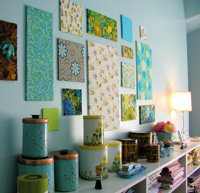 Use Fabrics for Decoration of Walls
